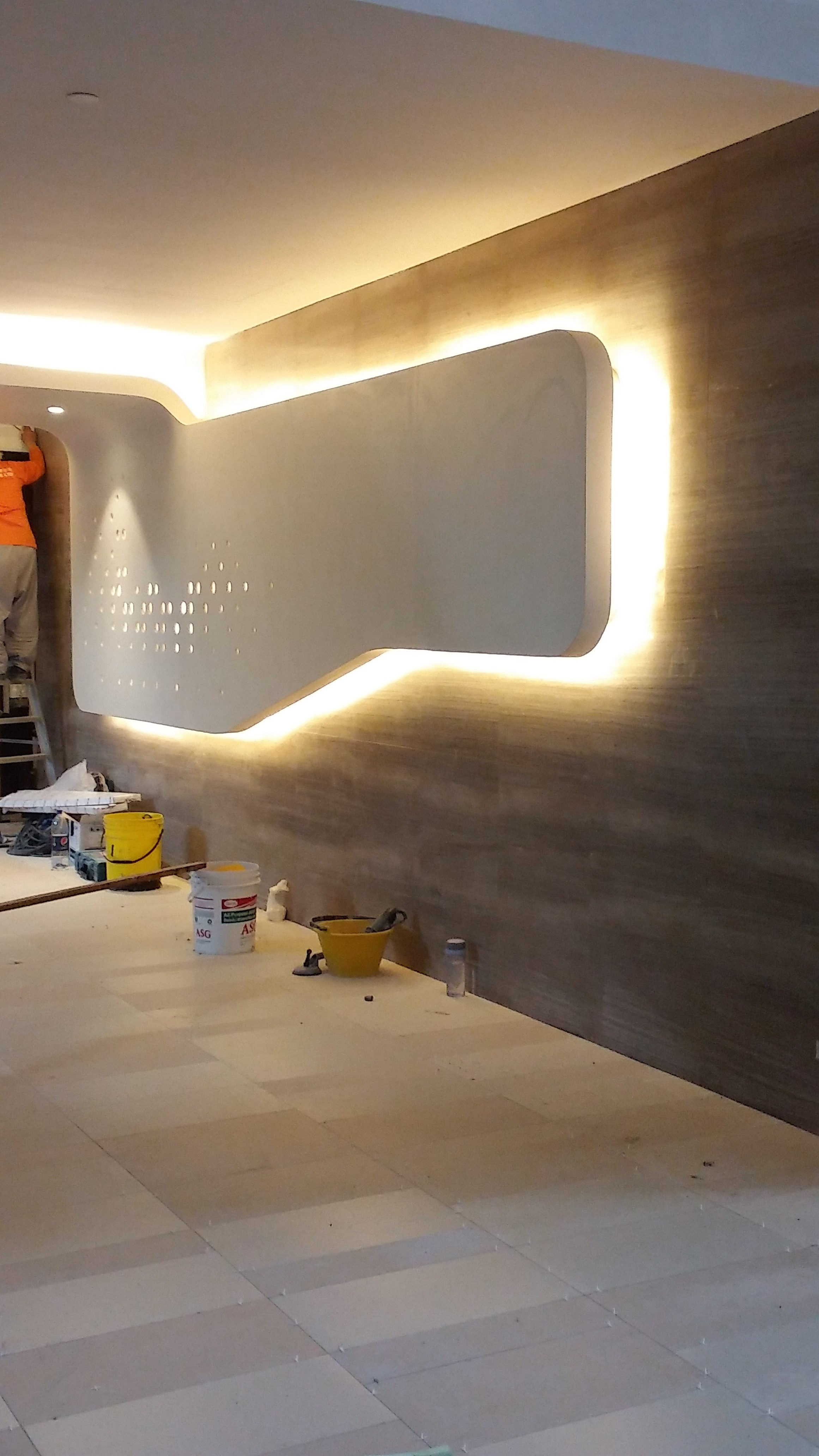 office feature wall. Timber-flooring-office-feature-wall-at-jurong-lakeview- Office Feature Wall